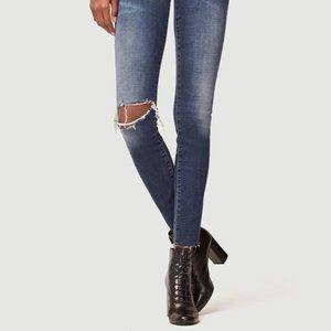 Frame Le Skinny De Jeanne Joli Raw Hem Jeans